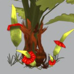 Low poly plants and bushes